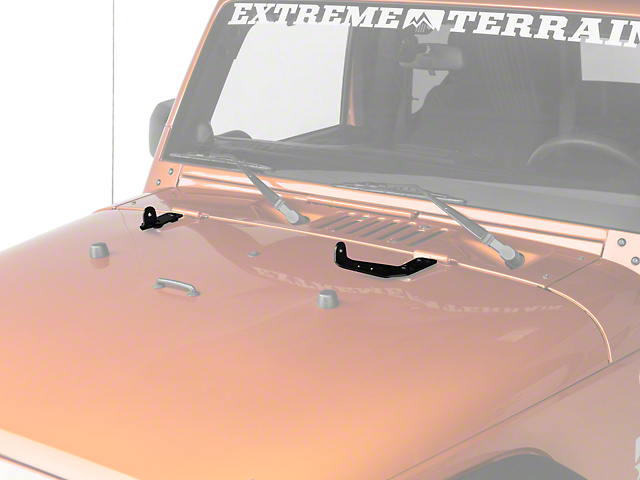 Off Camber Fabrications by MBRP 20 in. LED Light Bar Hood Mounting Brackets (07-18 Jeep Wrangler JK)