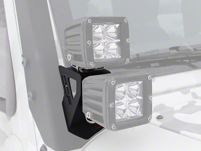Off Camber Fabrications by MBRP Dual Windshield Pillar Light Kit (07-18 Jeep Wrangler JK)