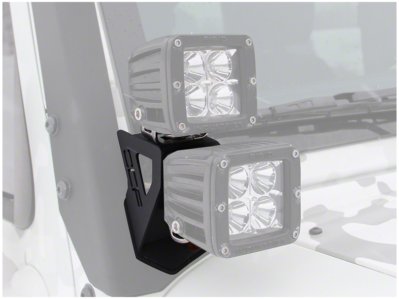 Off Camber Fabrications by MBRP Dual Windshield Pillar Light Kit (07-18 Jeep Wrangler JK)