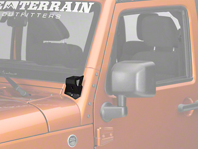 Off Camber Fabrications by MBRP Dual 50 in. LED Light Bar Formed Windshield Mounting Brackets (07-18 Wrangler JK)