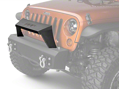 Off Camber Fabrications by MBRP Formed Front Light Bar for OCF Bumpers - Black (07-18 Wrangler JK)