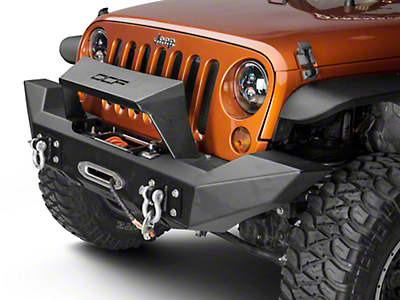Off Camber Fabrications by MBRP Full Width Front Winch Bumper w/ Formed Light Bar (07-18 Wrangler JK)
