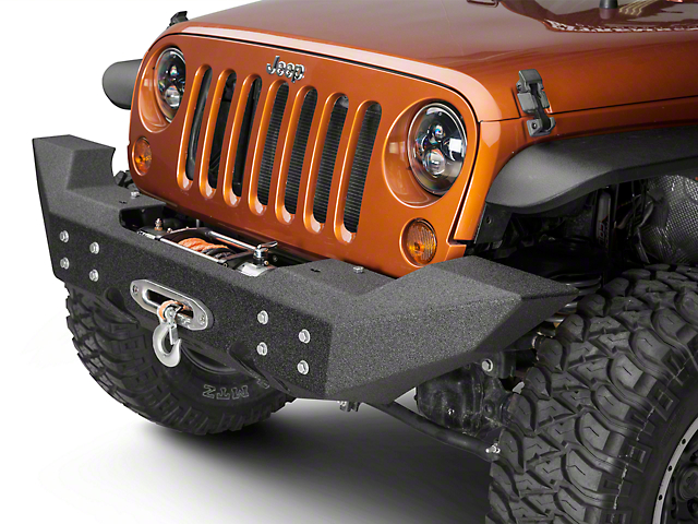 Off Camber Fabrications by MBRP Full Width Front Winch Bumper - LineX Coated (07-18 Jeep Wrangler JK)