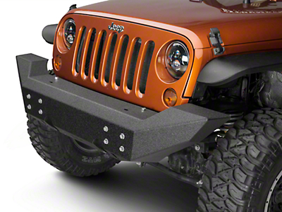 Off Camber Fabrications by MBRP Full Width Front Non-Winch Bumper - LineX Coated (07-18 Jeep Wrangler JK)
