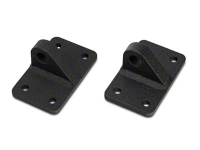 Add Off Camber Fabrications by MBRP D-Ring Shackle Bracket Mounts - LineX Coated (07-17 Wrangler JK)
