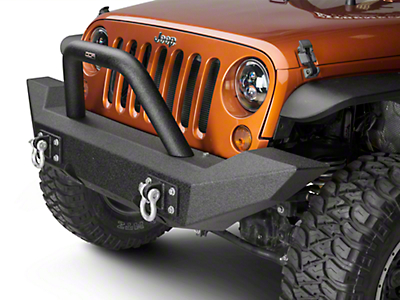 Off Camber Fabrications by MBRP Full Width Front Non-Winch Bumper Package - LineX Coated (07-18 Wrangler JK)