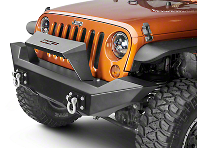 Off Camber Fabrications by MBRP Full Width Front Non-Winch Bumper Package w/ Formed Light Bar (07-18 Wrangler JK)