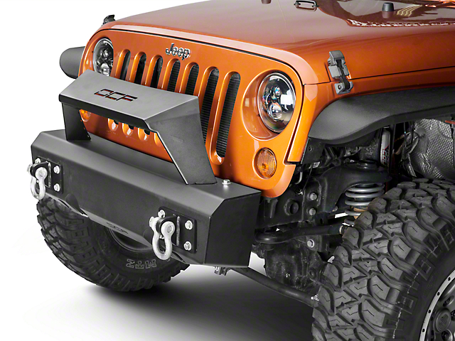 Off Camber Fabrications by MBRP Stubby Front Non-Winch Bumper Package w/ Formed Light Bar (07-18 Jeep Wrangler JK)