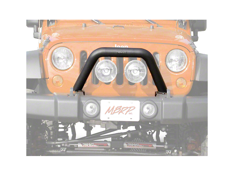 Off Camber Fabrications by MBRP Front Light Bar/Grille Guard System - LineX Coated (07-18 Wrangler JK)