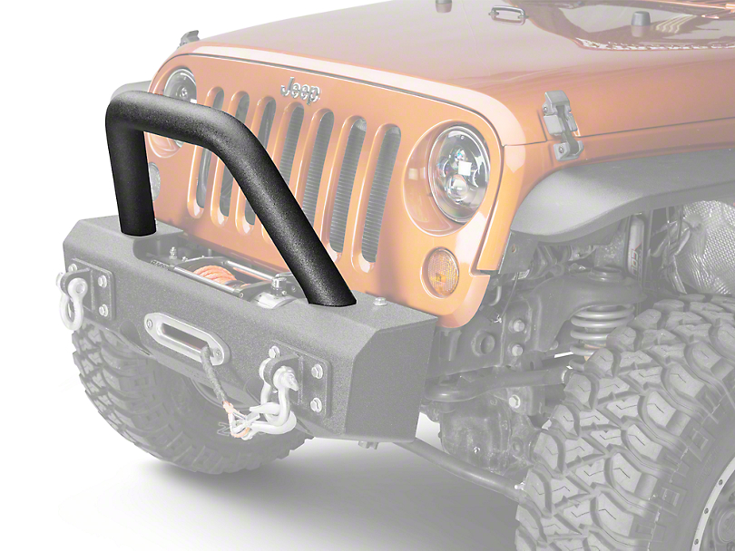 Off Camber Fabrications by MBRP Bumper Light Bar/Grill Guard - LineX Coated (07-18 Wrangler JK)