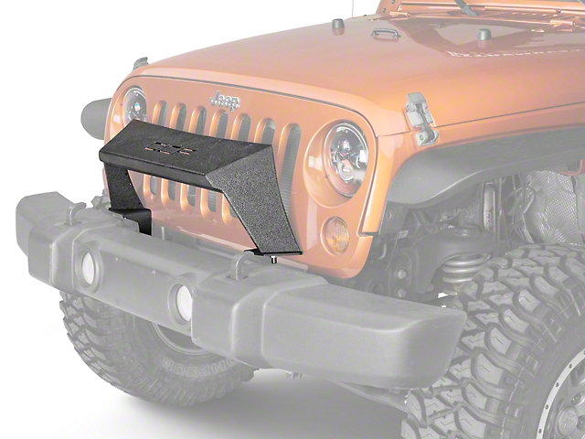 Off Camber Fabrications by MBRP Formed Front Light Bar - LineX Coated (07-18 Wrangler JK)
