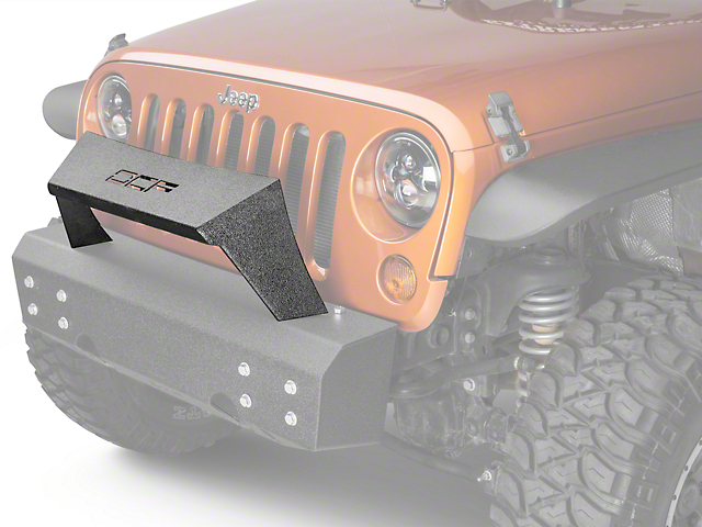 Off Camber Fabrications by MBRP Formed Front Light Bar for OCF Bumpers; LineX Coated (07-18 Jeep Wrangler JK)
