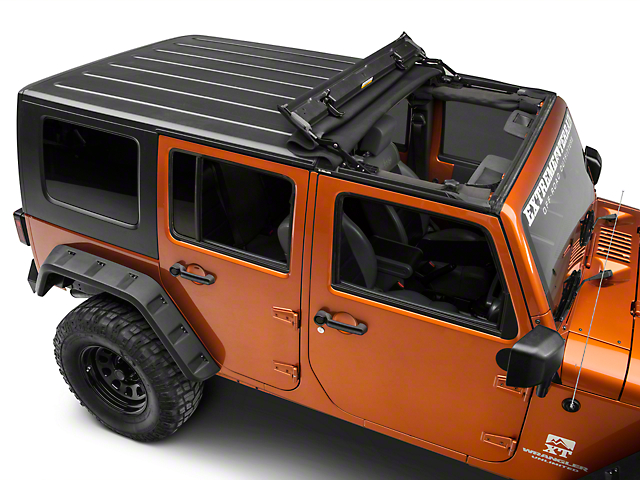 Bestop Sunrider for Factory Hard Tops - Black Twill (07-18 Jeep Wrangler JK)