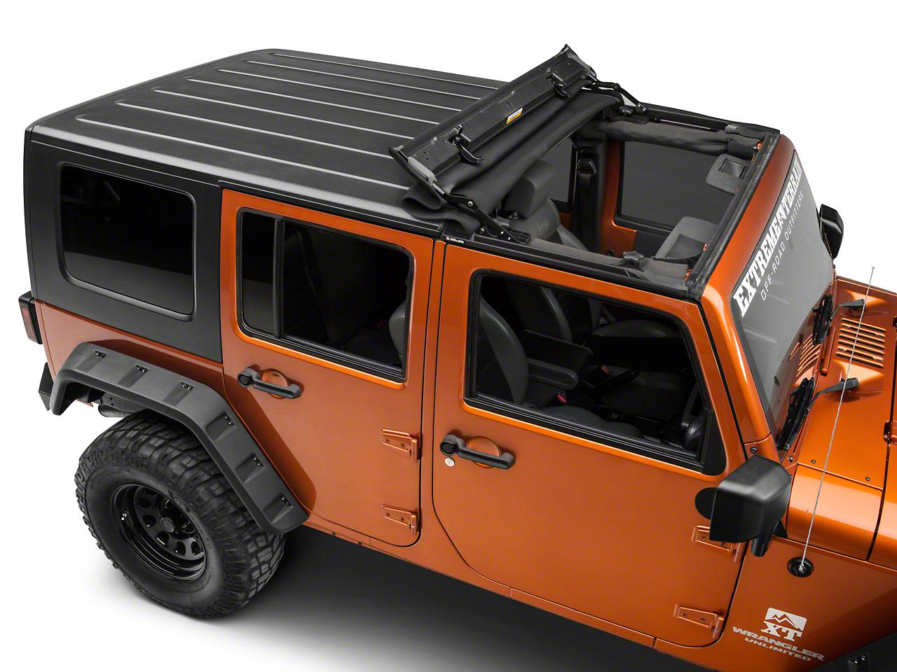 Bestop Sunrider for Hardtop - Black Twill (07-18 Jeep Wrangler JK)