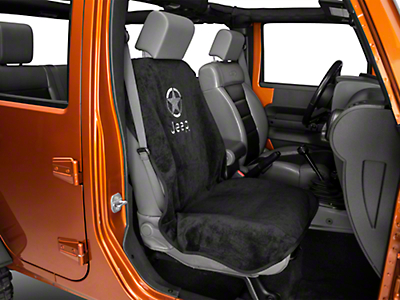 Seat Armour Black Seat Cover - Jeep Logo & Star (87-18 Wrangler YJ, TJ, JK & JL)