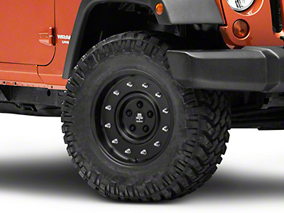 Mammoth General Matte Black Wheel - 17x9 (07-17 Wrangler JK)