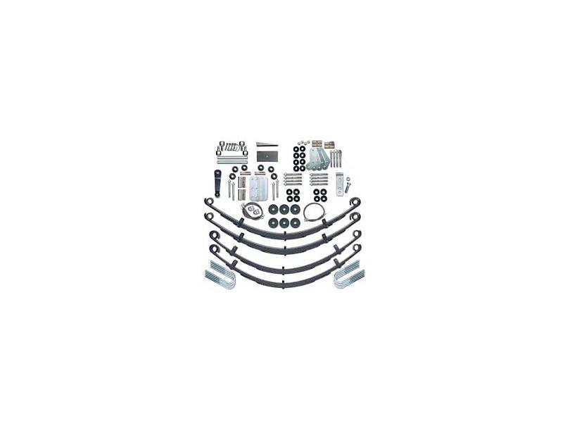 Rubicon Express 4.5 in. Extreme Duty Lift Kit w/ Mono Tube Shocks (87-95 Jeep Wrangler YJ)