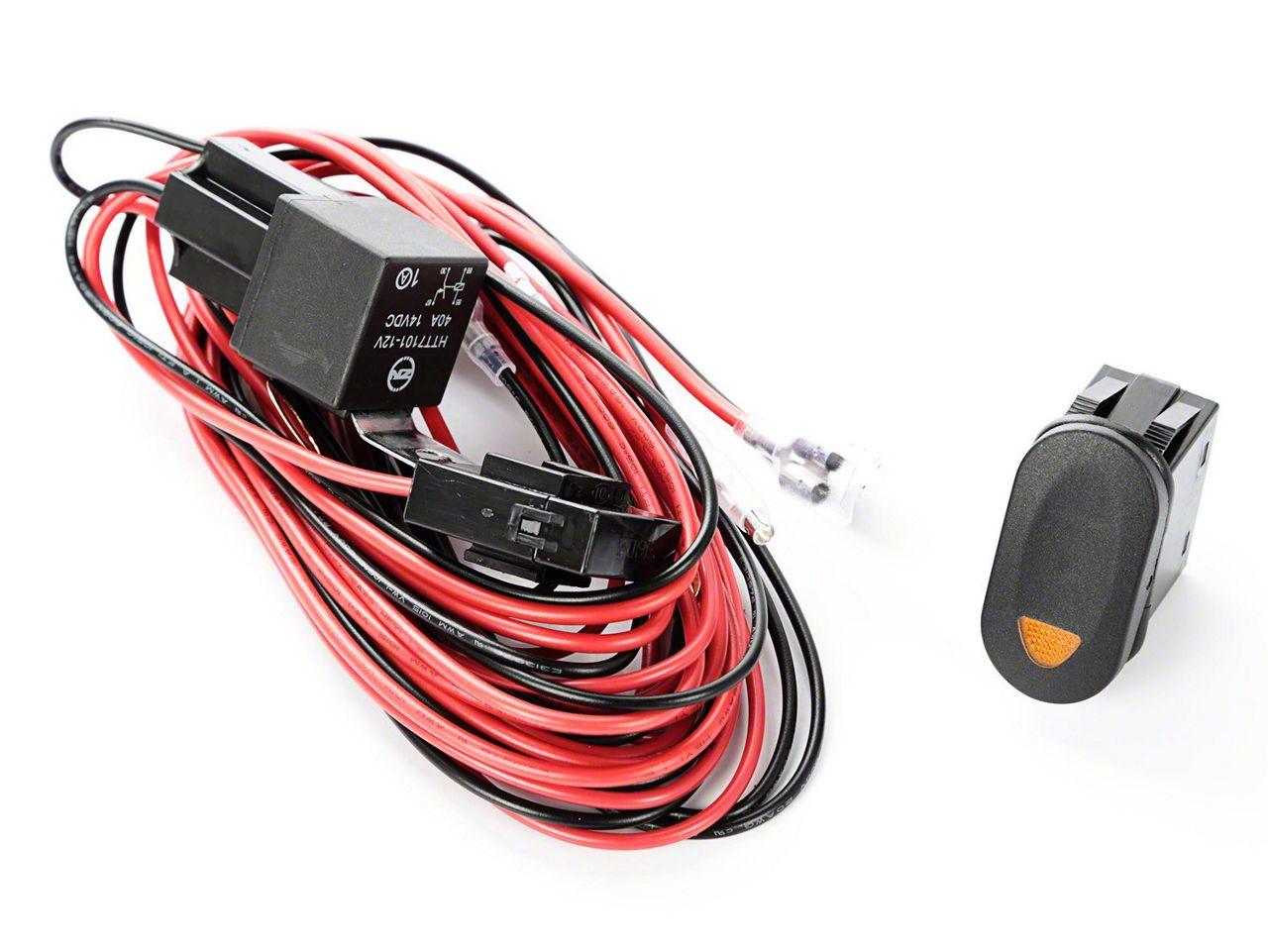 rugged ridge light wiring harness kit w amber switch (87 95 jeep wrangler yj) amazon com nilight led light bar