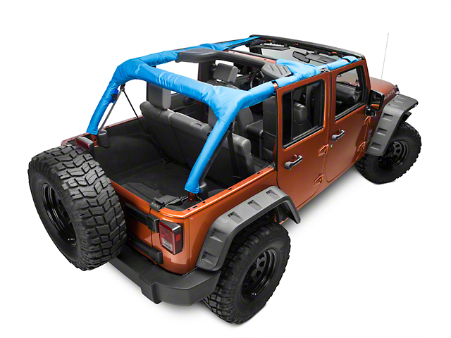 Dirty Dog 4x4 Roll Bar Covers; Blue (07-18 Jeep Wrangler JK 4 Door)
