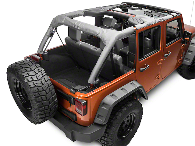 Dirty Dog 4x4 Roll Bar Covers; Gray (07-18 Jeep Wrangler JK 4 Door)