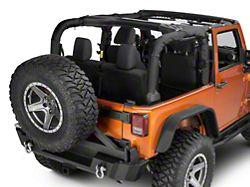 Dirty Dog 4x4 Replacement Roll Bar Cover; Black (07-18 Jeep Wrangler JK 2-Door)