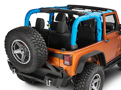 Dirty Dog 4x4 Roll Bar Covers - Blue (07-18 Wrangler JK 2 Door; 2018 Wrangler JL 2 Door)