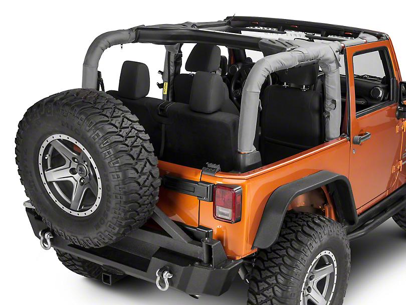 Dirty Dog 4x4 Roll Bar Covers - Gray (07-18 Jeep Wrangler JK 2 Door)