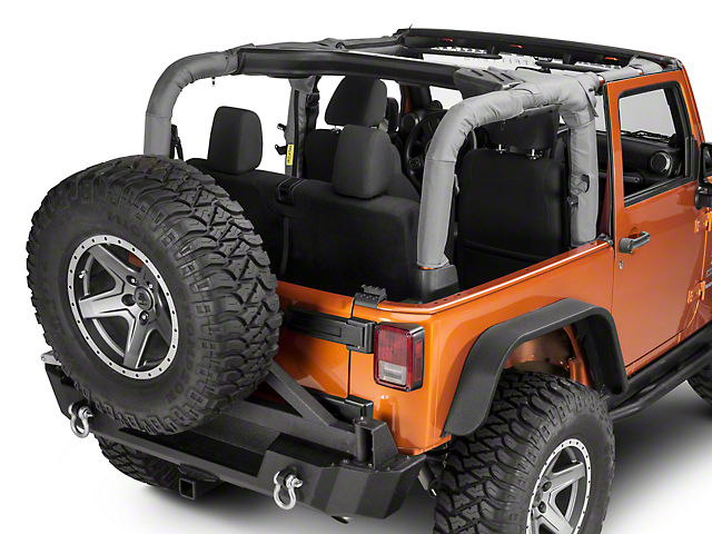 Dirty Dog 4x4 Replacement Roll Bar Cover; Gray (07-18 Jeep Wrangler JK 2 Door)
