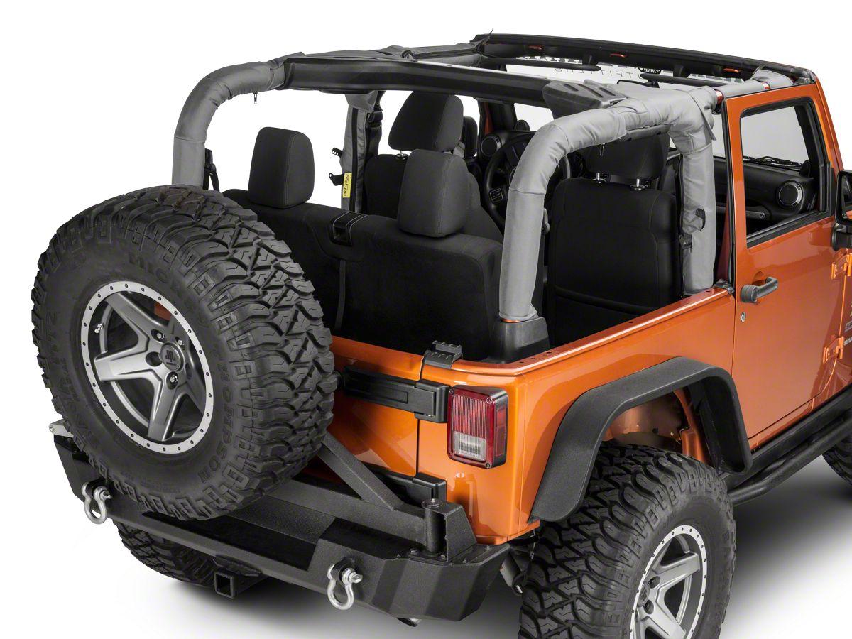 Dirty Dog 4x4 Jeep Wrangler Roll Bar Covers Gray J2rbc07gy 07 18 Jeep Wrangler Jk 2 Door