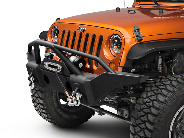 RedRock 4x4 Full Width Front Bumper with Double Grille Guard (07-18 Jeep Wrangler JK)