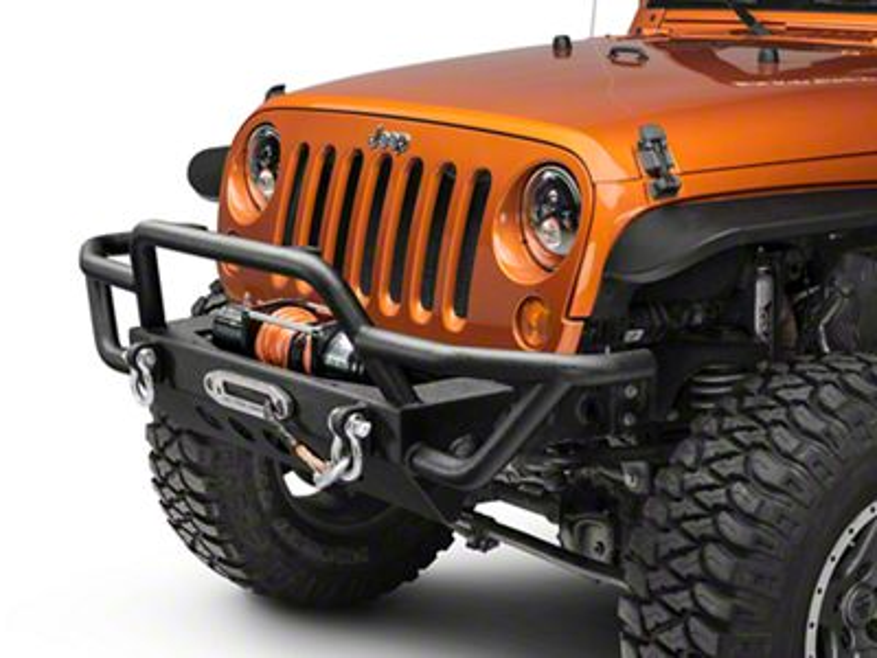 Add RedRock 4x4 Rock Crawler Front Bumper (07-17 Wrangler JK)