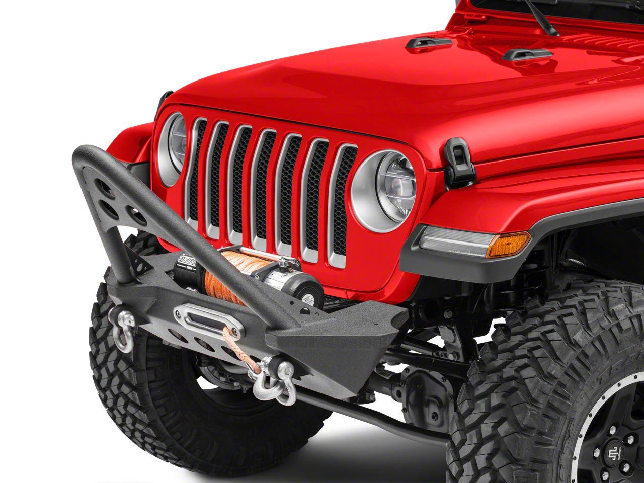 RedRock 4x4 Stubby Front Bumper w/ Stinger - Winch Mount (18-19 Jeep Wrangler JL)