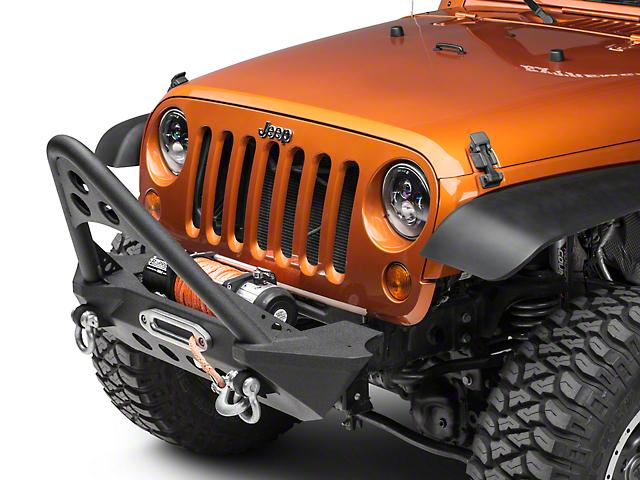 RedRock 4x4 Stubby Front Bumper w/ Stinger - Winch Mount (07-18 Jeep Wrangler JK)