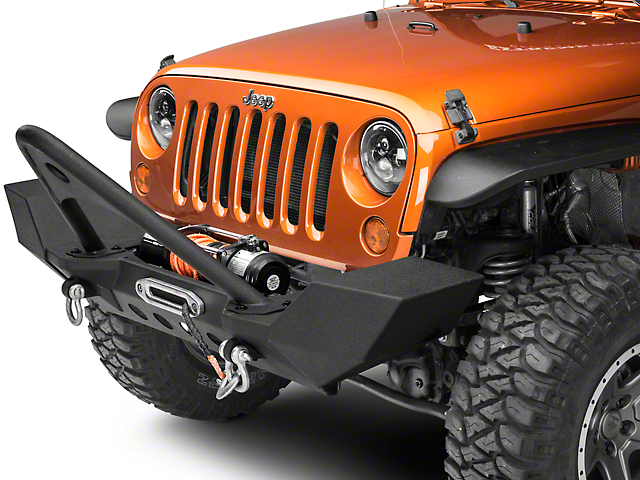 RedRock 4x4 Full Width Winch Front Bumper with Stinger Bar (07-18 Jeep Wrangler JK)
