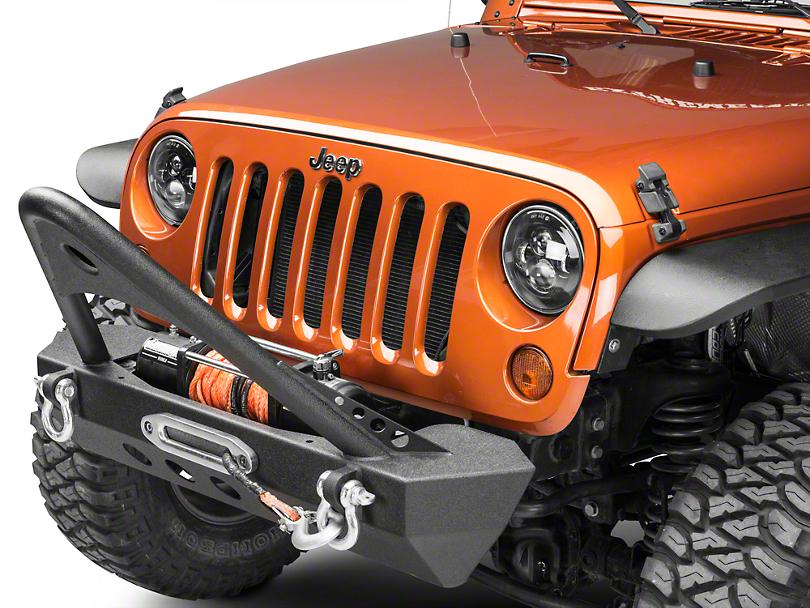 RedRock 4x4 Mid-Width Front Bumper w/ Stinger - Winch Mount (07-18 Jeep Wrangler JK)