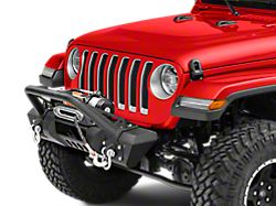 RedRock 4x4 Stubby HD Pre-Runner Winch Front Bumper with Light Bar Tabs (18-20 Jeep Wrangler JL)