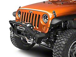 RedRock 4x4 Stubby HD Pre-Runner Front Bumper w/ Light Bar Tabs & Winch Mount (07-18 Jeep Wrangler JK)