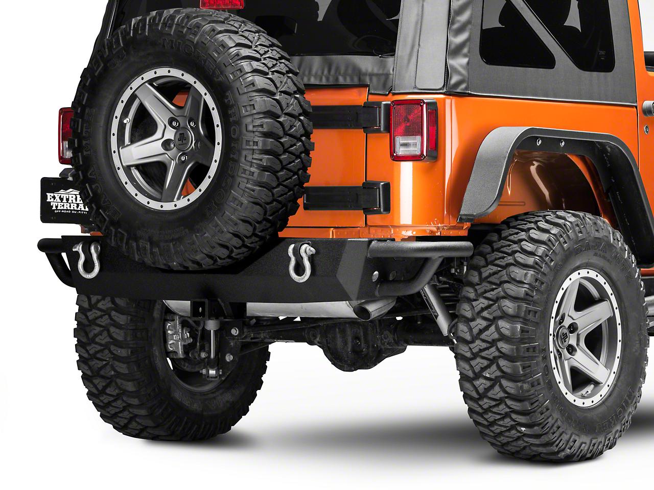 RedRock 4x4 Full Width HD Rock Crawler Rear Bumper (07-18 Wrangler JK)