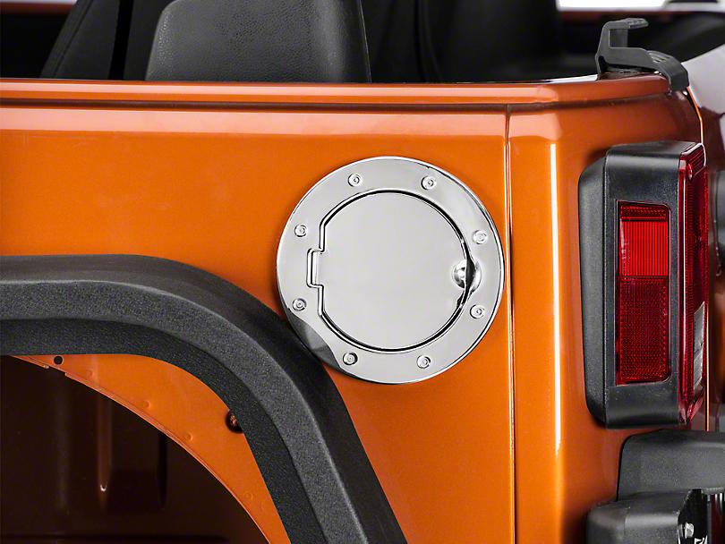 RedRock 4x4 Non-Locking Fuel Door - Stainless (07-18 Wrangler JK)
