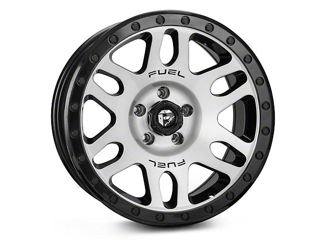 Fuel Wheels RECOIL Black Machined Wheel; 17x8.5 (87-06 Jeep Wrangler YJ & TJ)