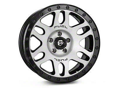 Fuel Wheels RECOIL Black Machined Wheel - 17x8.5 (87-06 Wrangler YJ & TJ)