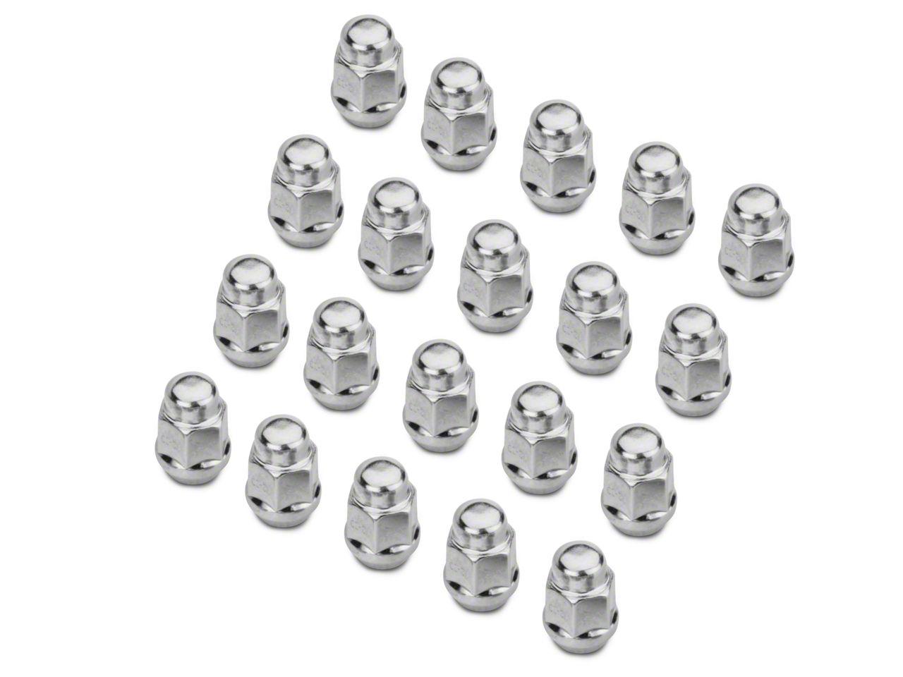 Chrome Acorn Lug Nut Kit - 1/2 in. x 20 (07-18 Jeep Wrangler JK)