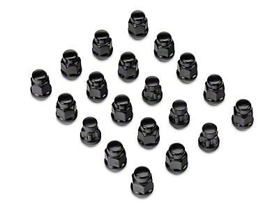 Black Acorn Lug Nut Kit - 1/2 in. x 20 (07-17 Wrangler JK)