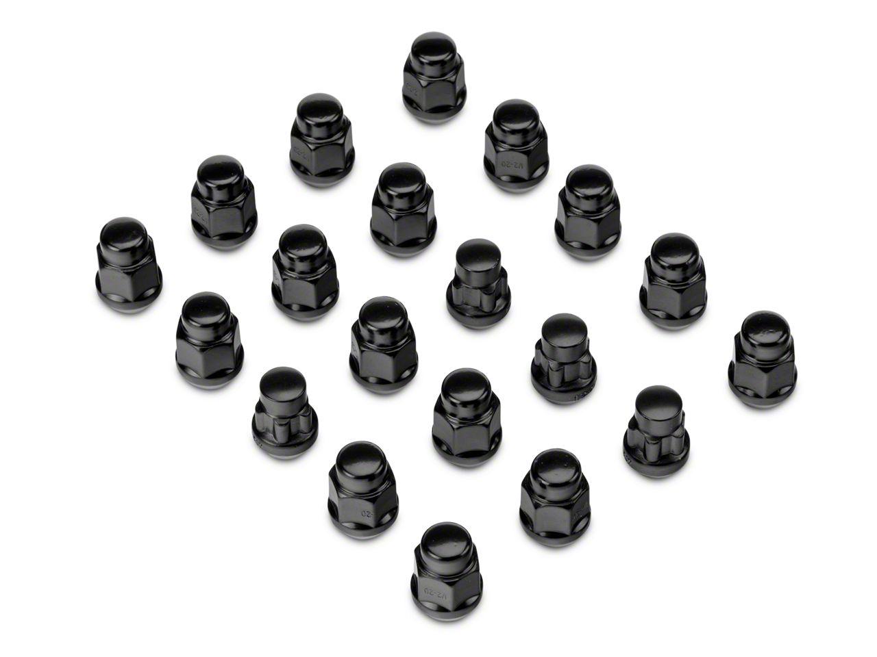 Jeep Wrangler Black Acorn Lug Nut Kit 1 2 In X 20 07 18 Jeep Wrangler Jk
