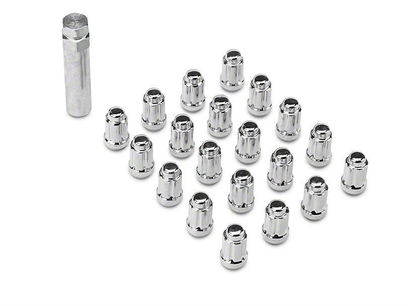 Chrome 6 Spline Lug Nut Kit - 1/2 in. x 20 (07-18 Jeep Wrangler JK)