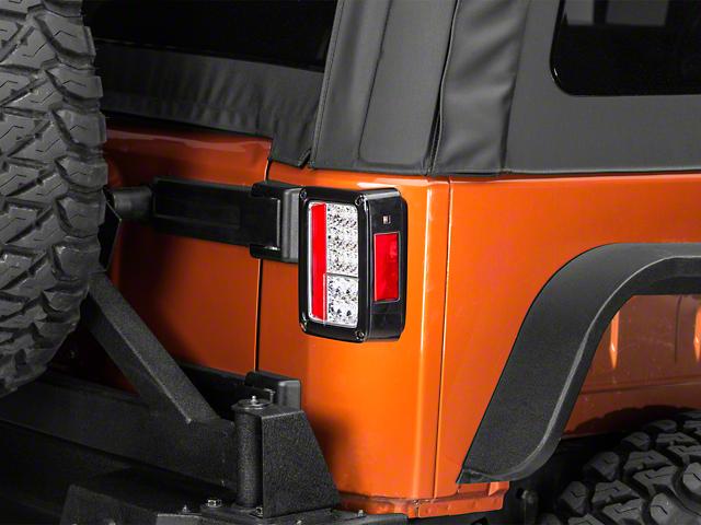 Axial LED Tail Lights - Chrome (07-18 Wrangler JK)