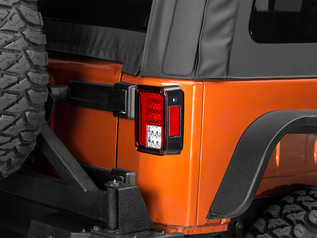 LED Tail Lights; Red Clear (07-18 Jeep Wrangler JK)