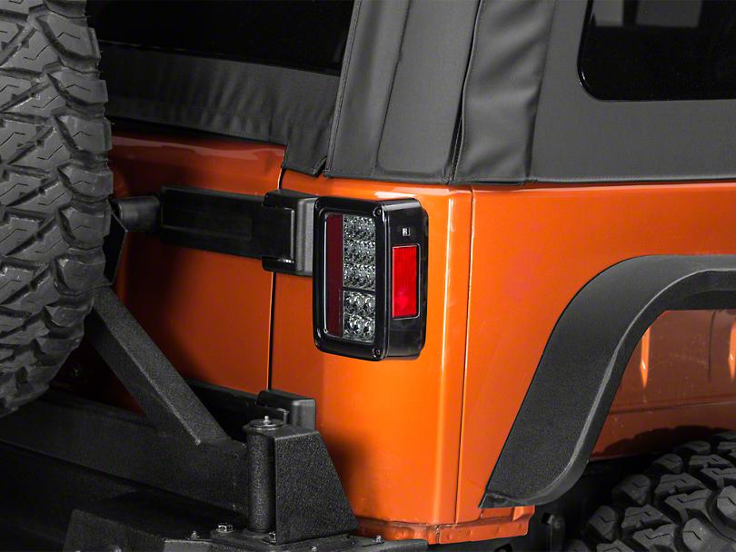 Axial LED Tail Lights - Smoke (07-18 Jeep Wrangler JK)