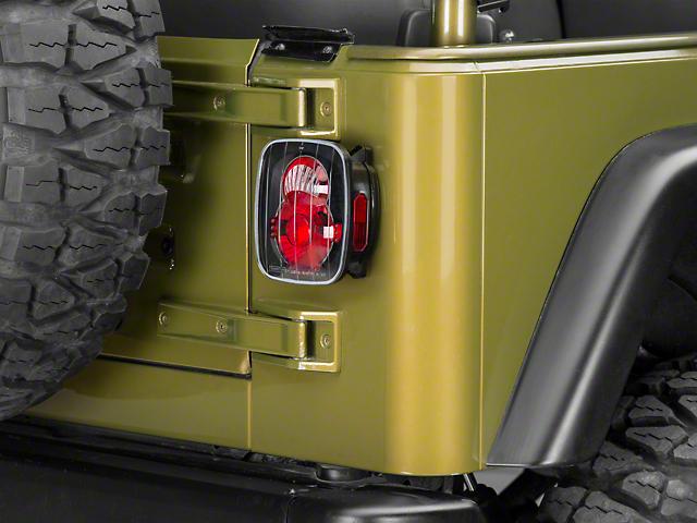 Axial Crystal Eyes Tail Lights - Bermuda Black (87-06 Jeep Wrangler YJ, TJ)