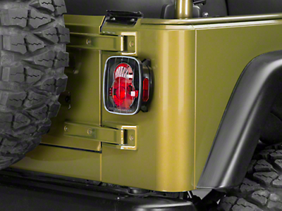 Axial Crystal Eyes Tail Lights - Bermuda Black (87-06 Jeep Wrangler YJ, TJ)